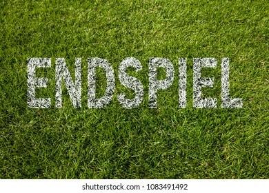 Final match (written in german) on soccer meadow