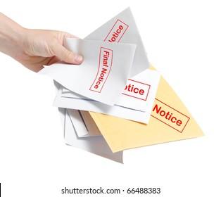 Final notice bills