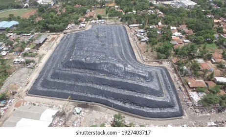 the final result of geomembrane work in landfills