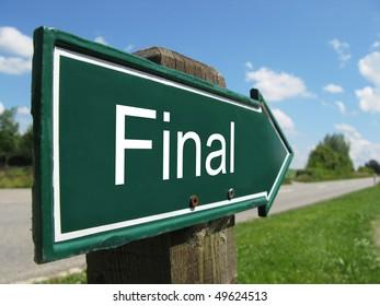 FINAL road sign