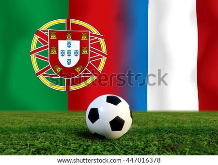Final Round Between Football National Team Stock Photo Edit Now