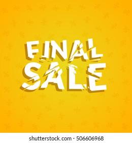 Final Sale poster design template. Promotion marketing design banner illustration