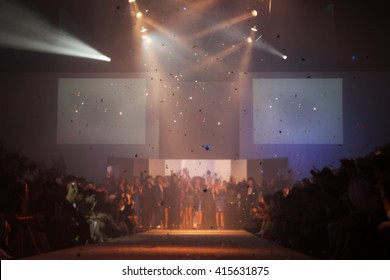Finale Fashion runway out of focus,blur background