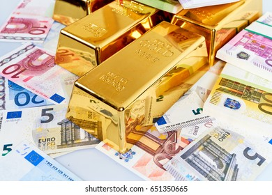 Finance background with money and gold. Finance concept