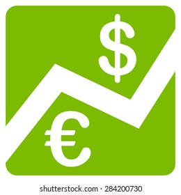 Finance from BiColor Euro Banking Icon Set. Glyph style: flat, eco green symbol, rounded angles, white background.