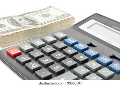 finance and business concept. money with calculator