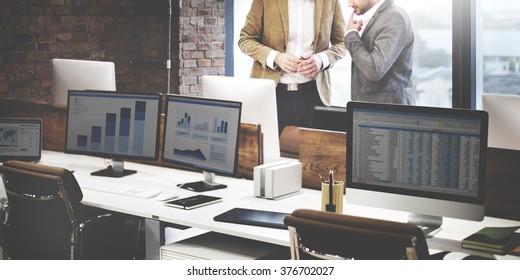 Finance Business People Online Communication Concept