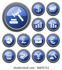 Finance buttons. See vector version in my portfolio