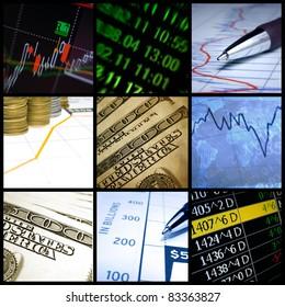 Finance collage.