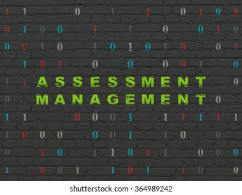 Finance concept: Assessment Management on wall background