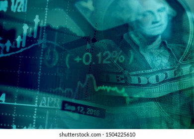 Finance data and graphs. Finance concept.