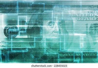 Finance Digital Data Accounting Technology Concept