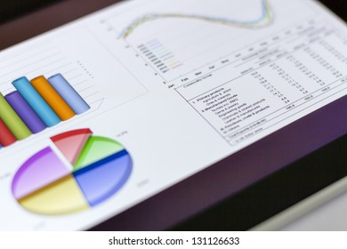 Finance Graphics on digital tablet