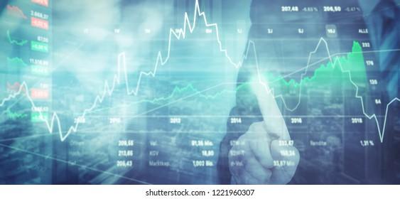 Finance Investment Background.
