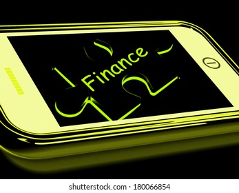 Finance Smartphone Meaning Credit And Loan Money