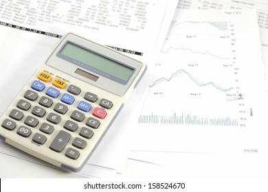 Finance statement with calculator