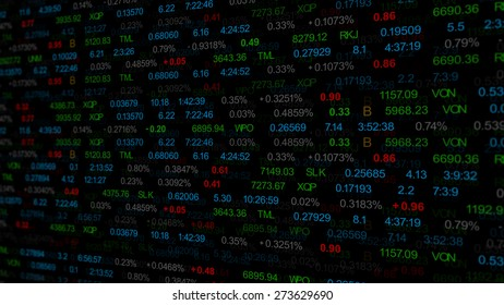 finance or stock market background with digits, arrows and percents