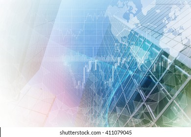 finance technology (fintech) and world economy, abstract image visual