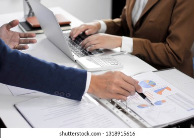 Financial accountant, planner, meeting, business consultation, introduction