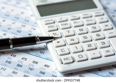 financial accounting analysis concept with graphs and charts