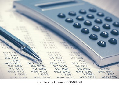 Financial accounting. Balance sheet and calculator