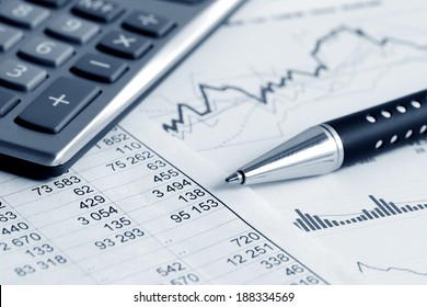 Financial accounting stock market graphs analysis