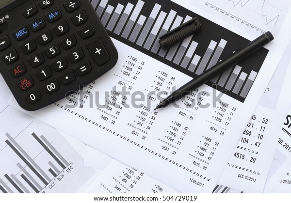 financial accounting stock market graphs analysis. over light