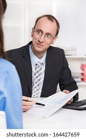 Financial adviser sales an insurance.