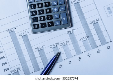 Financial analysis by chart pen calculator