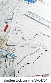 Financial analytics and graphs. Background on forex and stock markets