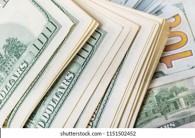 financial background of a paper money close-up texture