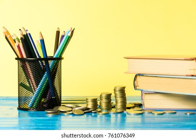 Financial budget for education concept. Back to school concept.