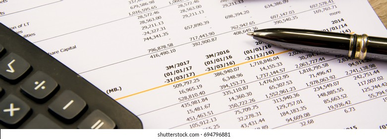 financial budget statement read and check the number for analysis invest stock business target
