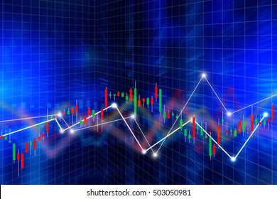 financial business concept with Candle stick graph chart of stock market investment trading business background concept