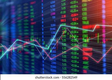 financial business graph chart analysis stock market graph background