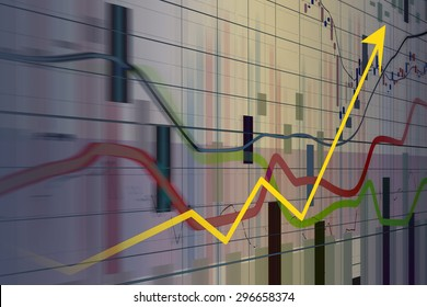 Financial and business graphs, Finance concept