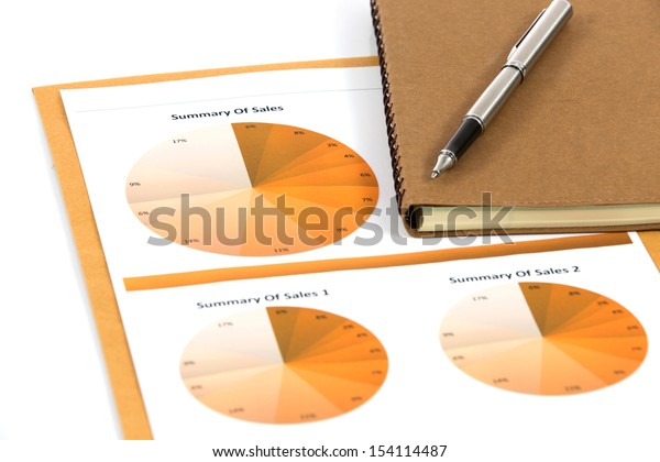 financial charts and graphs white background