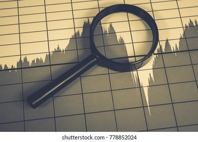 Financial charts, market analysis