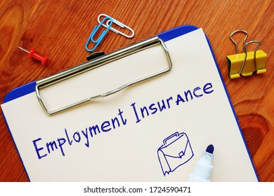 Financial concept about Employment Insurance EI with sign on the sheet. - Shutterstock ID 1724590471