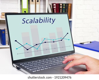 Financial concept about Scalability with phrase on the piece of paper.
