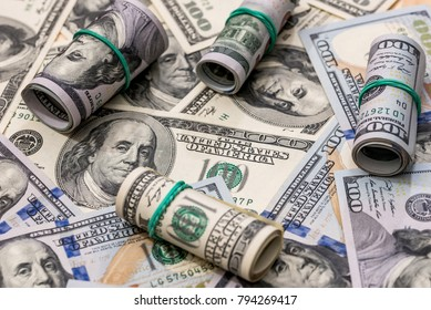 financial concept - background from usa dollars