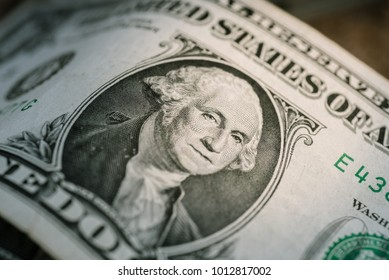 financial concept by dollar bill on ground