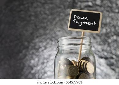 Financial Concept Down Payment concept