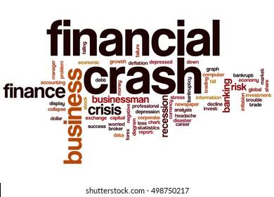 Financial crash word cloud concept