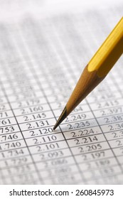 Financial data analyzing , shot with very shallow depth of field