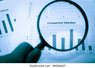 Financial data on monitor. Finance data concept. stock market pricing. Business background. Market Analyze. Bar graphs of Forex diagrams, financial figures. Forex graph, Forex trading, Forex market.