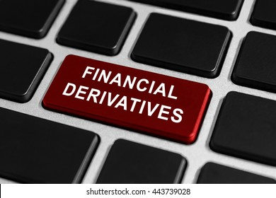 financial derivatives button on keyboard, business concept