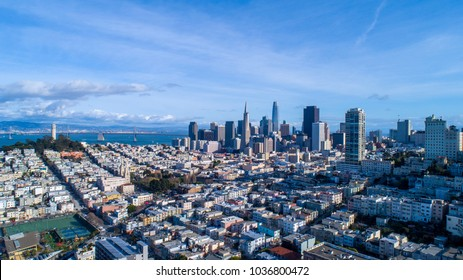 The Financial District of Downtown San Francisco.