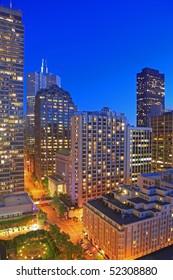 Financial District of San Francisco at Night