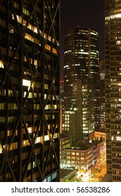 Financial District of San Francisco at Night